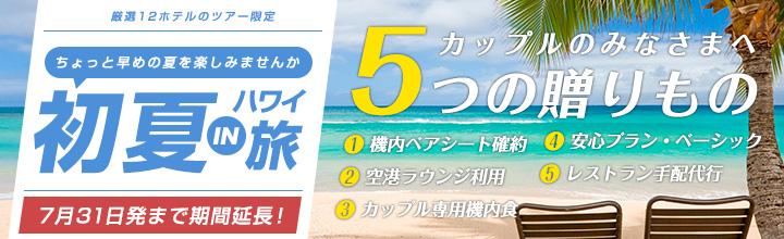 初夏のハワイ旅行〜カップルの皆様へ5つの贈り物〜