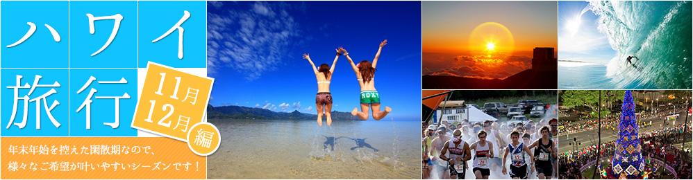 11・12月のハワイ旅行 〜人気のオプショナルツアーを楽しんでみませんか?〜