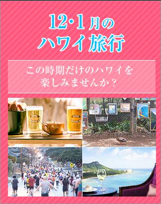 【更新】12・1月のハワイ旅行