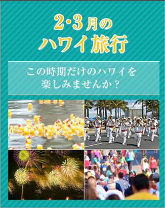 【新着】2・3月のハワイ旅行