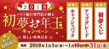好評につき、期間延長!2018初夢お年玉キャンペーン開催中!