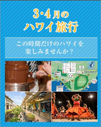 【新着】3・4月のハワイ旅行